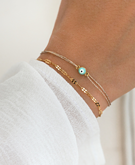 EVIL EYE BRACELET LIGHT BLUE