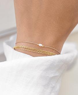 MINI PEARL Armband Gold