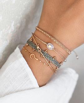 ETHNO  Armband Grau