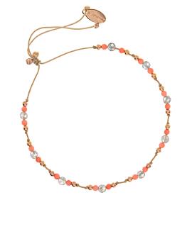 LABRADORITE  Armband Coral