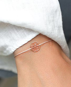 FLOWER OF LIFE Armband Beige