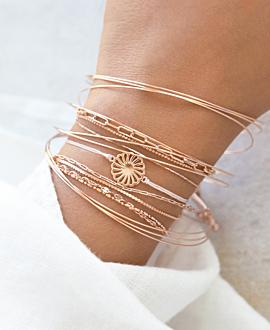 FLOR Armband Rosé