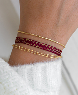 TRIBUTE  BRACELET BORDEAUX