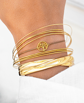 TREE OF LIFE Armband Gold