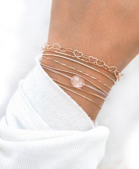 ROSENQUARZ  Armband Rosa