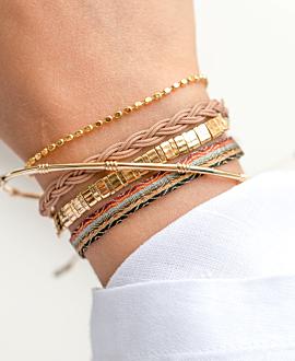 BOHEMIAN VIBE  Armband Braun