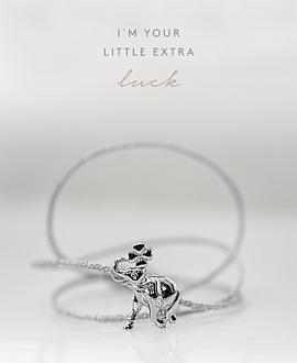 LUCKY ELEPHANT Armband Silber