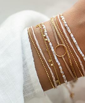 MIYUKI  Armband Weiß