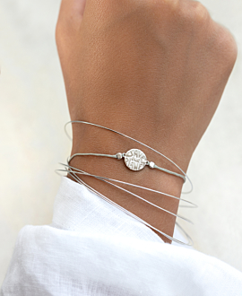 SAVE OUR PLANET Armband Silber