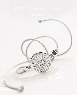 SAVE OUR PLANET|Armband Silber
