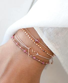 TURMALIN Armband Rosé