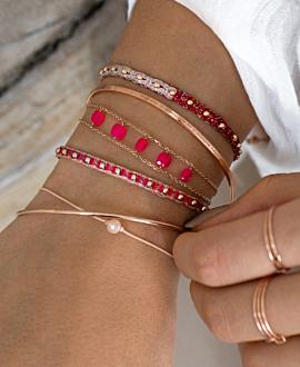 PEACHY Armband Rosé