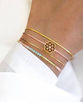 FLOWER OF LIFE  Armband Rosa