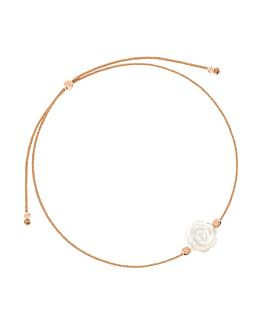 SHIMMERING ROSE|Armband Weiß
