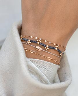 GYPSY PAW Armband Grau