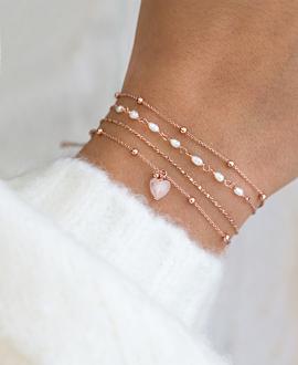 GEM HEART Armband Rosa