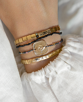BOHO SPINEL Armband Schwarz