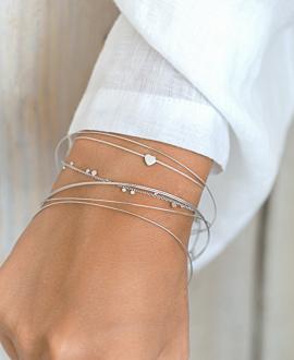 TINY HEART Armband Silber