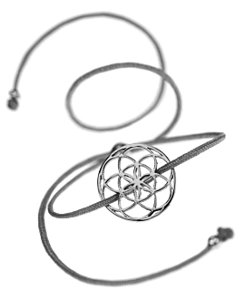 FLOWER OF LIFE Armband Grau