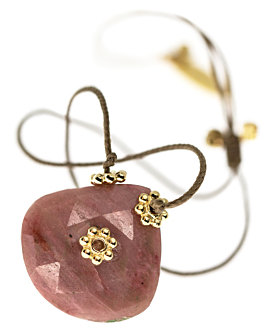 RHODONITE BRACELET RED