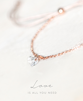 FLYING HEART|Armband Rosé
