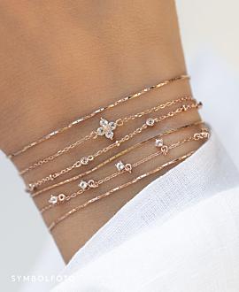 TOPAZ BEADS  Armband Silber