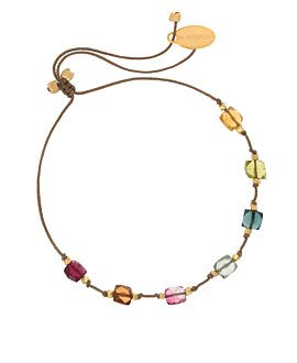 COLORED TOURMALINE Armband Taupe