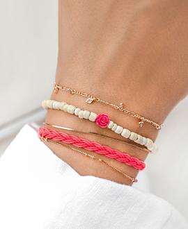 WILD ROSE Armband Pink