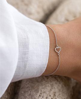 HEART Armband  14K Weißgold