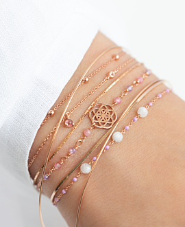 EMAILLE COLORS  Armband Lila