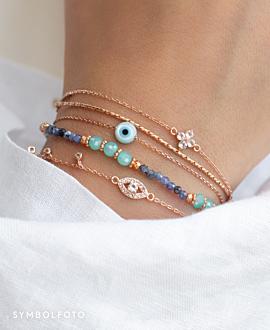 TOPAZ POPPY  Armband Silber