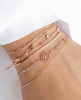 LUCKY CHARMS  Armband Rosé