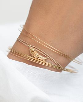 GOLD FISH  Armband Gold