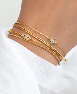 EVIL EYE  Armband Gold