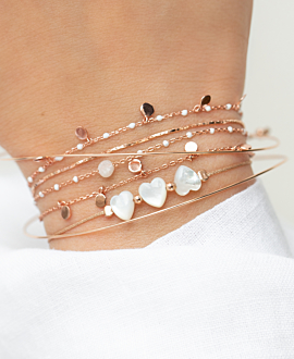 SHIMMERING HEARTS  Armband Weiß