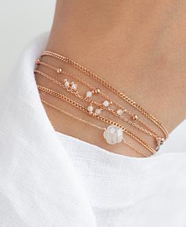 WHITE BLOSSOM  Armband Mondstein