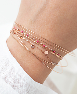 EMAILLE COLORS  Armband Pink