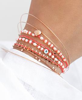 FREE SPIRIT  Armband Neonpink