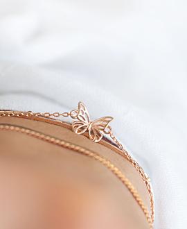 BUTTERFLY  Armband Rosé