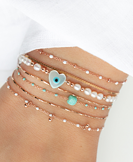 EMAILLE COLORS  Armband Weiß