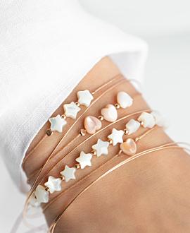SHIMMERING HEART  Armband Rosa