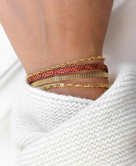 PAPERCLIP Armband Gold