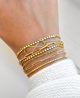 CHAIN LINK Armband Gold