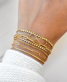 INFINITY  Armband Gold