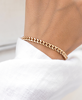CURB CHAIN BRACELET GOLD