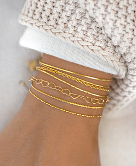 HEART CHAIN Armband Gold