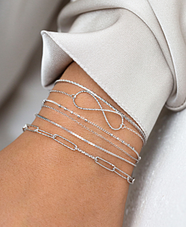 CHAIN LINK Armband Silber
