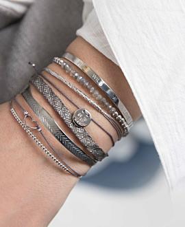 LABRADORIT  Armband Silber