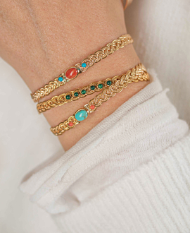 BOHO FLAIR Armreif Gold