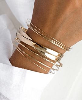 CINQ BANGLES SET GOLD